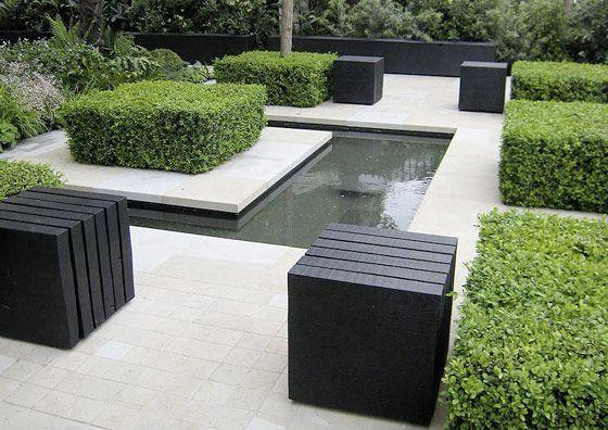Выполнение работ в саду в стиле модерн