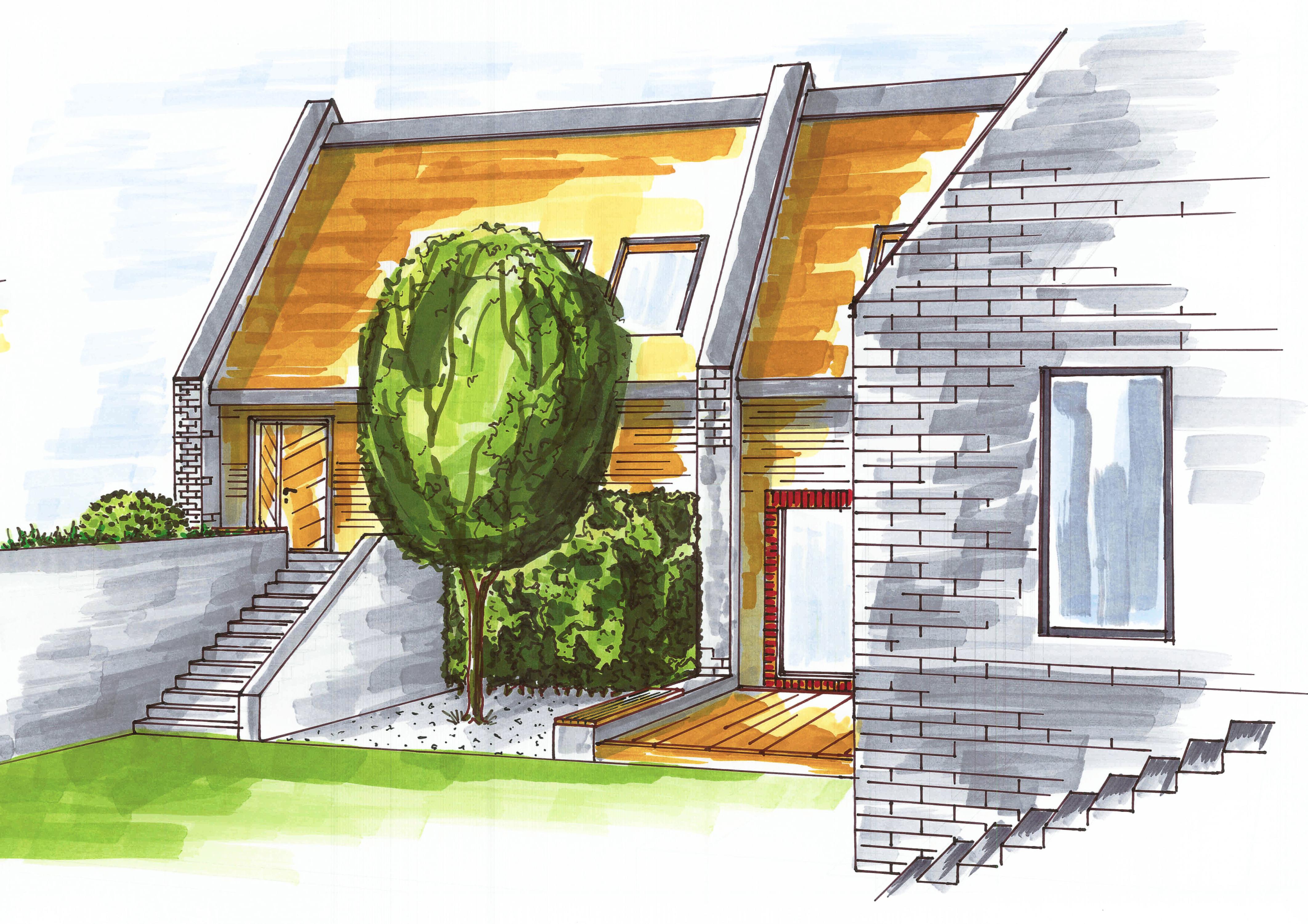 Дом и ландшафт