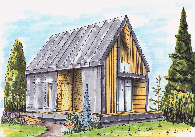 Эскиз гостевого домика
