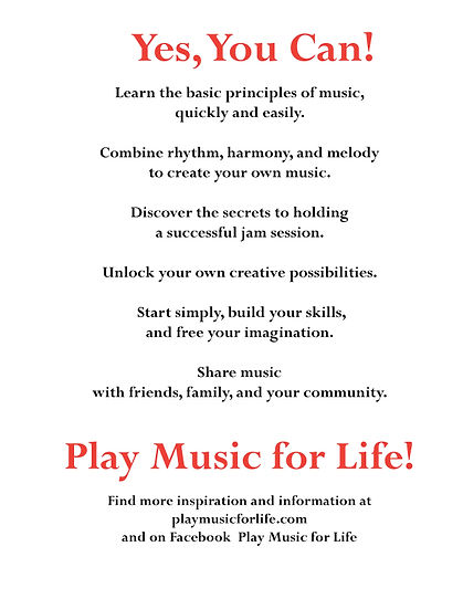 Yes, You Can! Play Music for Life!