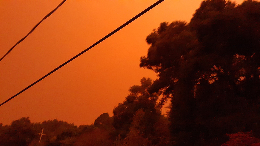 The sky over our house during the wildfires