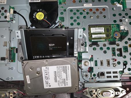 東芝一体型パソコンのSSD換装