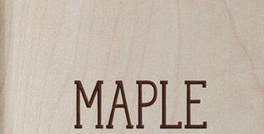 "10"" x 8"" Custom Maple Sign"