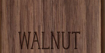 "10"" x 22"" Walnut Sign"