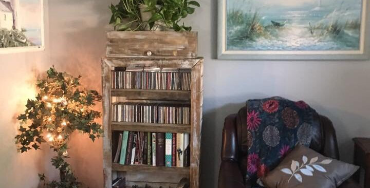Distressed Bookcase