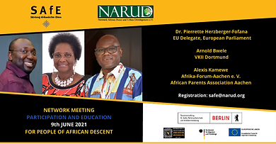 """""""People of African Descent - Opportunities for Participation and Education in Germany"""""""