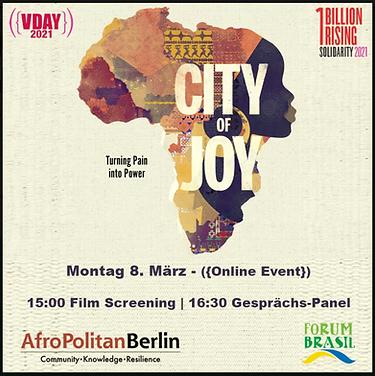 Online   V-Day Berlin 2021: City of Joy