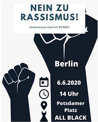 No to racism - demo