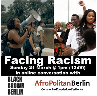 Online | Facing Racism Conversation with BlackBrownBerlin & AfroPolitan Berlin (English)