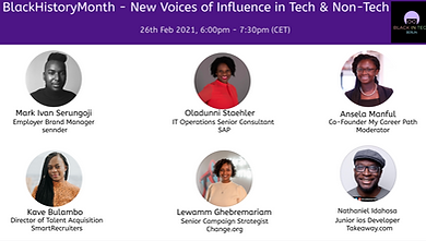 BHM Celebration - New Voices of Influence in Tech & Non Tech
