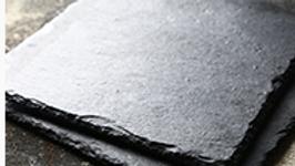 方形黑色岩石餐盤