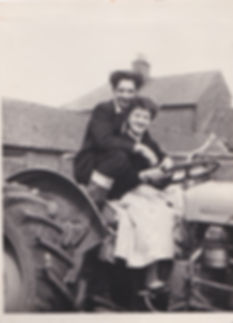 Mary and George Copper, The Grange Farm, Lincolnshire 1958.