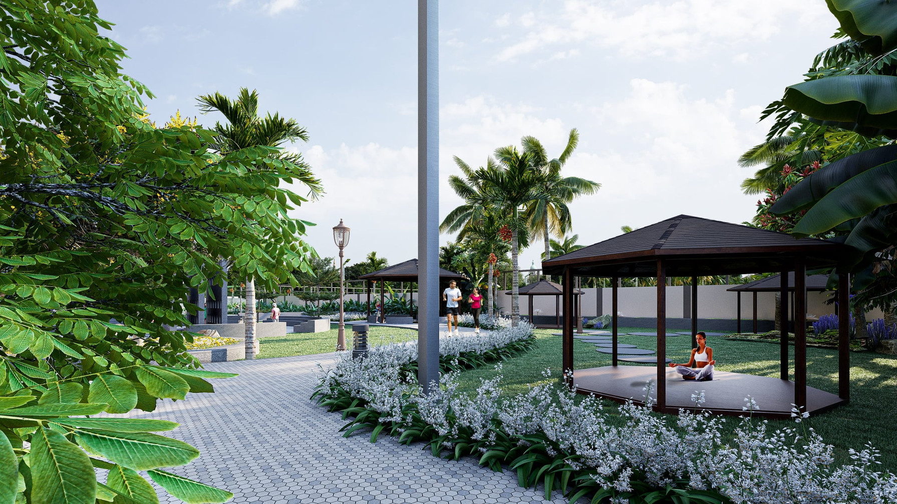 Nature-Inspired Seating & Jogging Track