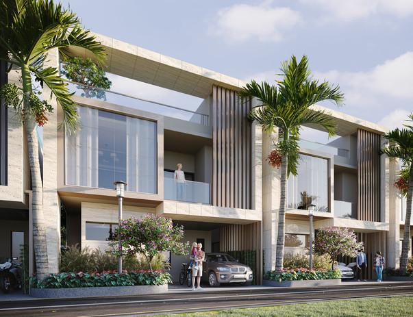 Paradise Villas Side View