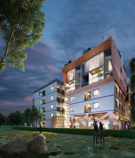 Side Elevation - Duplex