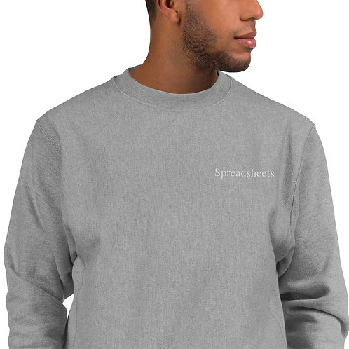 Spreadsheets Embroidered Crewneck
