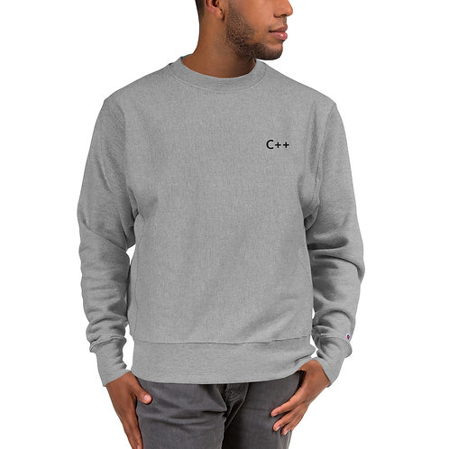 C++ Embroidered Crewneck