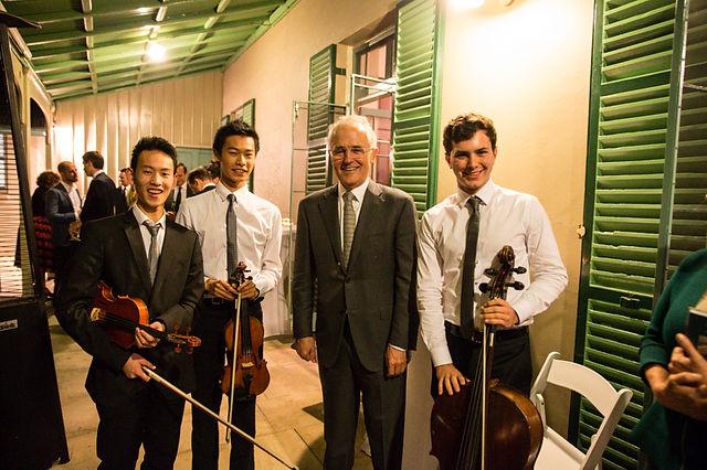 Seraphim String Trio Prime Minister Malcolm Turnbull