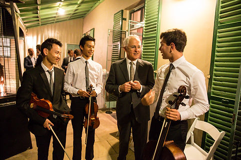 Seraphim String Trio playing for the Prime Minister