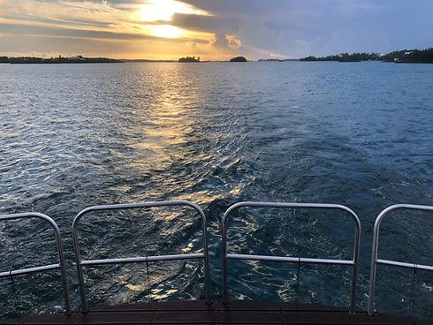 stern sunset