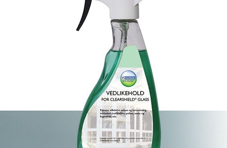 Vedlikehold for ClearShield Glass