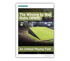 'The Window to Wall Ratio (WWR) - An Unlevel Playing Field' Article