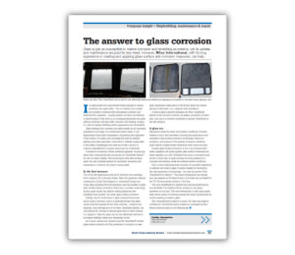 ​'The Answer to Glass Corrosion' Article
