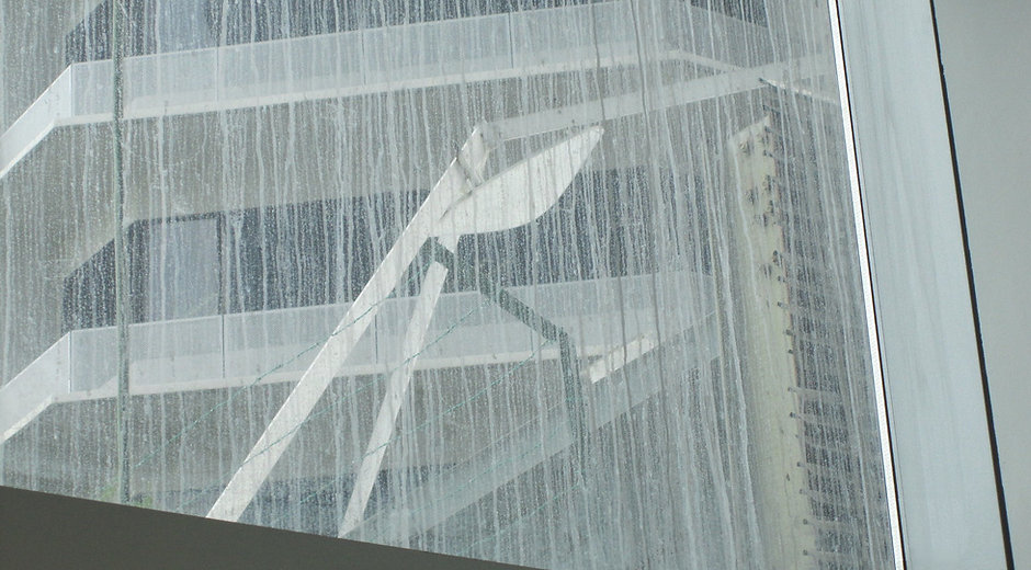 Concrete slurry on glass - problem glass