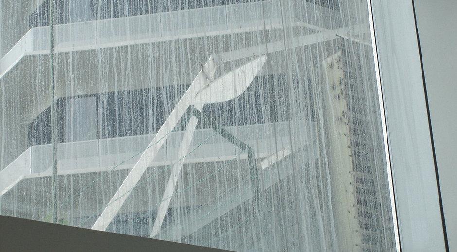Concrete slurry on glass