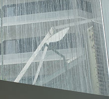 Concrete slurry on glass