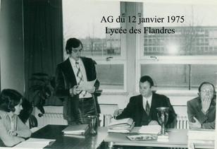 AG du 12 janvier 1975 Le secrétaire