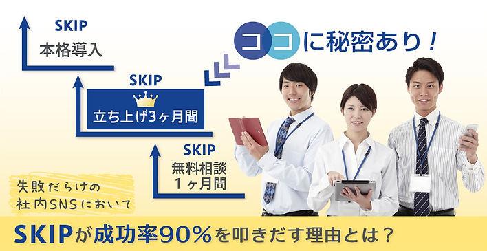 社内SNS「SKIP」の導入成功率は90パーセント