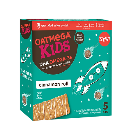 OM Kids Bar 4.4oz Cinnamon Roll (5pk) Mu