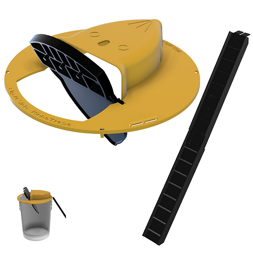 RinneTraps - Flip N Slide Mouse Trap - 5 Gallon Bucket
