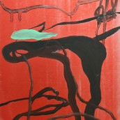 'Untitled (Crimson Veins)'