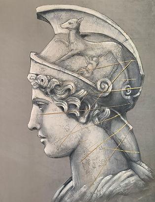 Lipinska-Atena Roma-acrilico su velluto