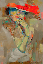 viktor sheleg-sunny girl-olio su tela-60