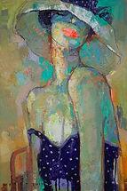 Viktor Sheleg-Polka-dot dress-60x40-olio