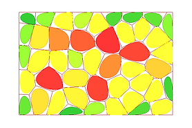 voronoi diagram with colour