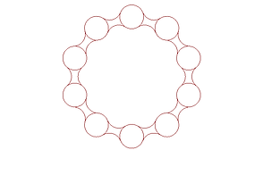 tangent arcs array