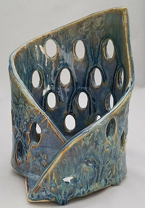 Blue Rutile Candle Holder