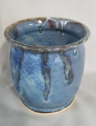 Mottled Blue Vase