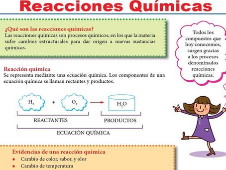 03/08/2021 CLASE QUIMICA7 SEMANA  24 REACCIONES QUIMICAS