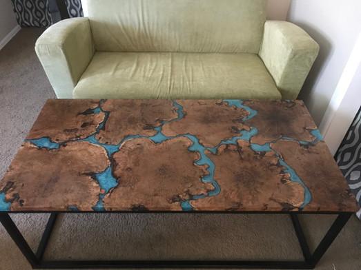 Mesquite Resin Table
