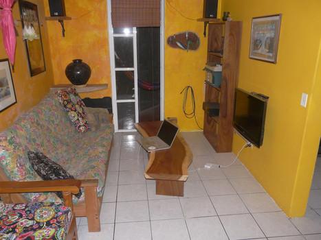 Guanacaste Live Edge Coffee Table and Bookshelf