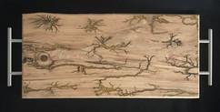 Cedar Elm Serving Tray with Lichtenberg Burn Figures