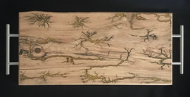 Cedar Elm Serving Tray with Lichtenberg Burn Figures