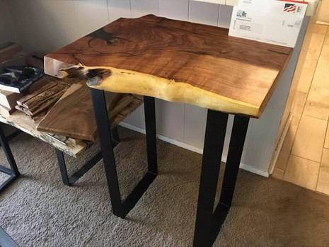 Mesquite Burl Entry Table
