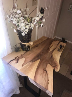 Cedar Elm Slab Side Table - $500/600