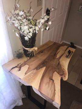 Cedar Elm Slab Side Table - $500/600